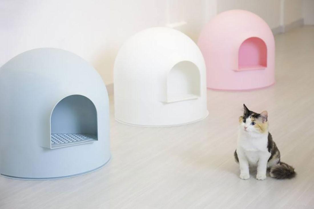 Pidan Igloo Snow House Portable Hooded Cat Toilet Litter