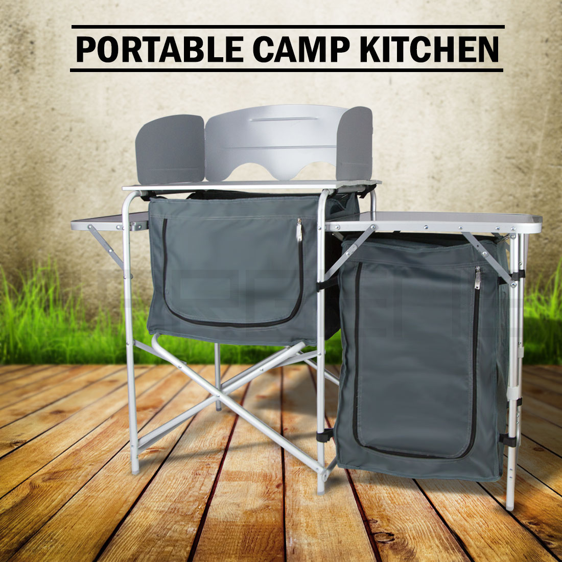 Portable Kitchen Pantries: PANTRY STORAGE CAMPING KITCHEN SHELF CAMP CUPBOARD